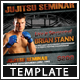 MMA Style Seminar Flyer - GraphicRiver Item for Sale