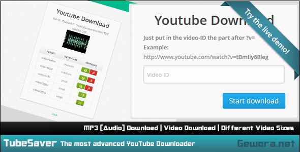 Code Media: TubeSaver - The Most Advanced YouTube Downloader (PHP