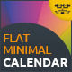 Flat Minimal Calendar - GraphicRiver Item for Sale