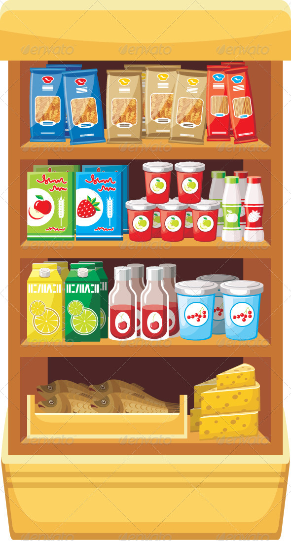 Stock Vector - GraphicRiver Supermarket Products 5912308 ...