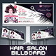 Hair Salon Billboard - GraphicRiver Item for Sale