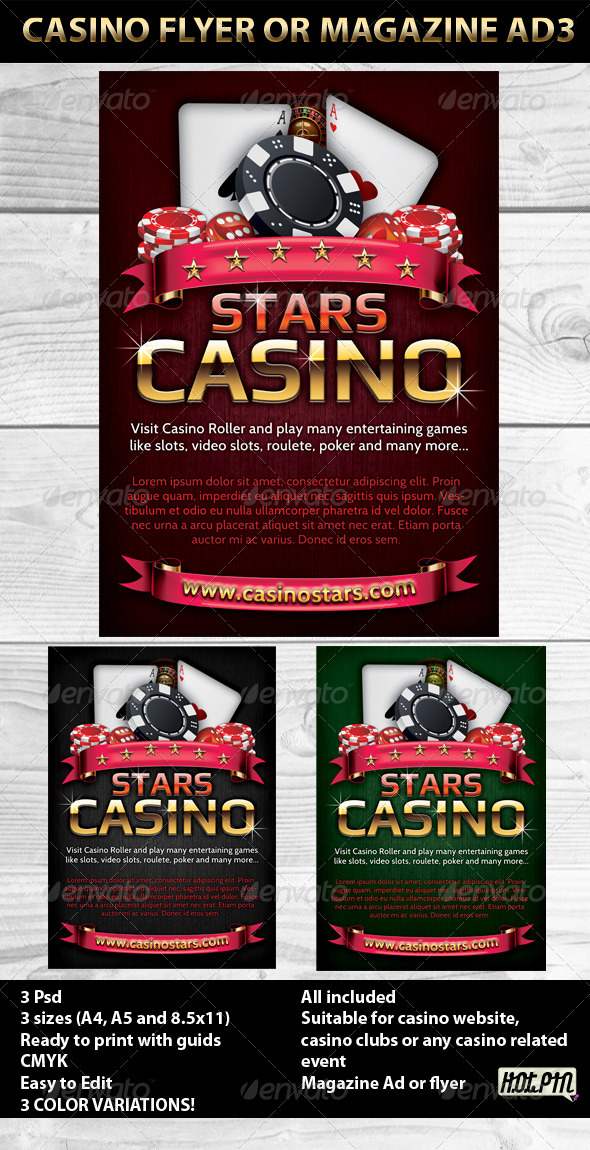 GraphicRiver Casino Magazine Ads or flyers Templates 3 615670