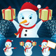 Snowman Christmas Set  - GraphicRiver Item for Sale