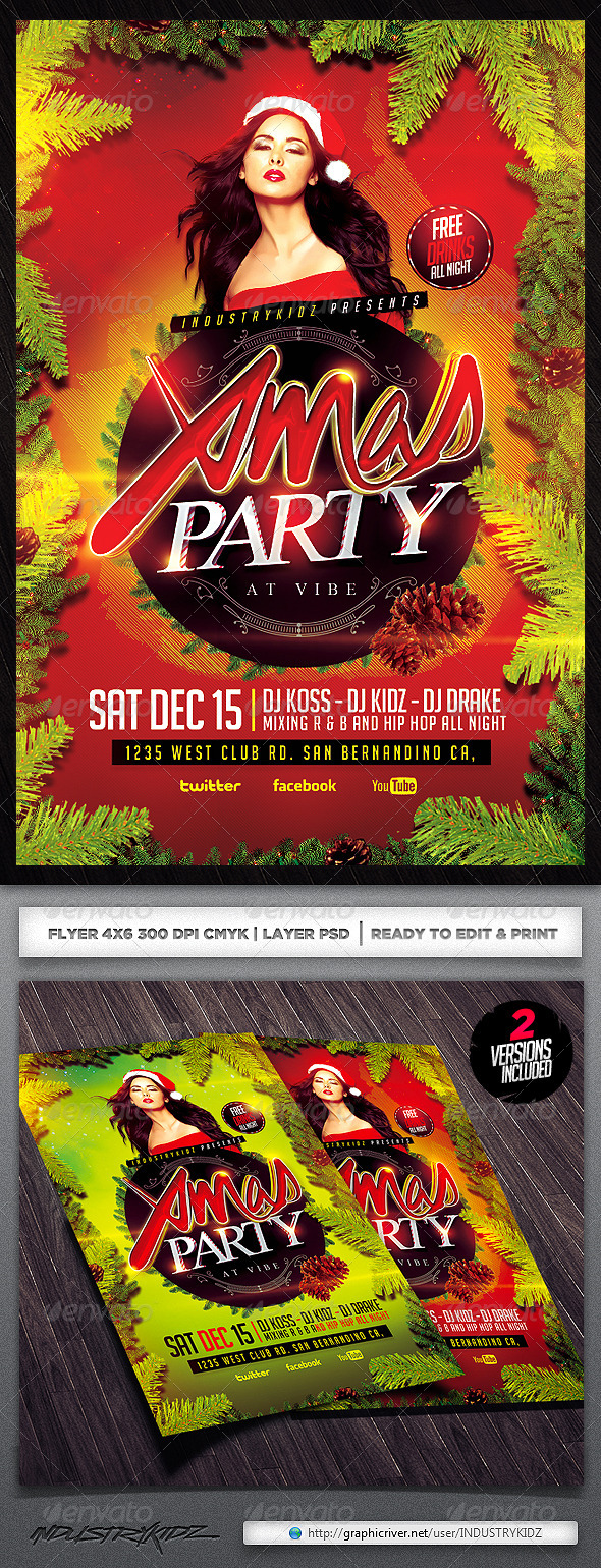 GraphicRiver Christmas Party Psd Flyer 5942960