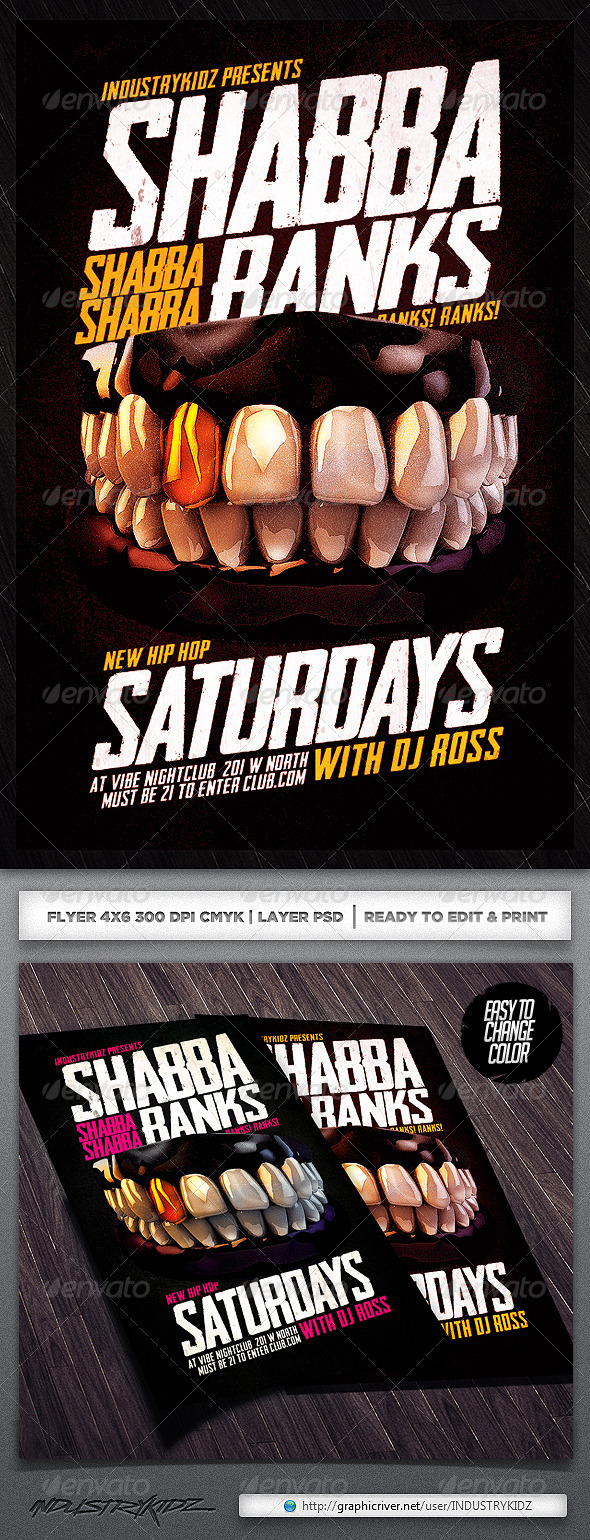 GraphicRiver Shabba Ranks Flyer Psd 5943082