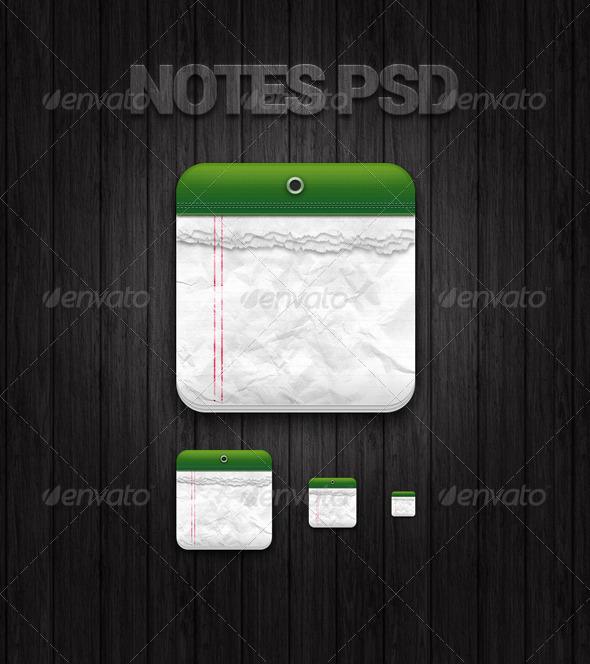 GraphicRiver A Notes App Icon 5948420