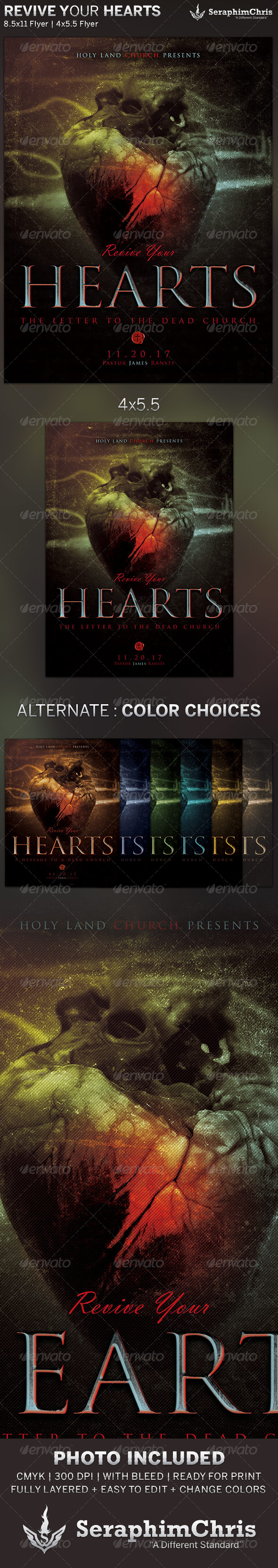 GraphicRiver Revive Your Hearts Church Flyer Template 5949659