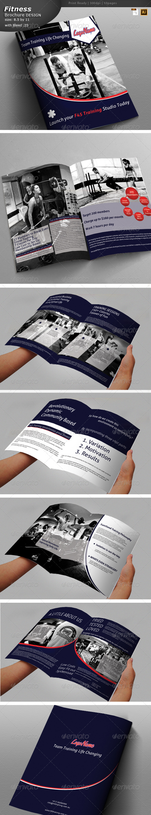 GraphicRiver Fitness Training Brochure 5950357