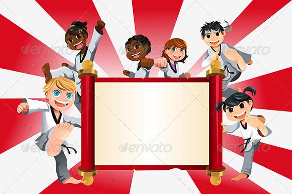 GraphicRiver Karate Kids Banner 5952271