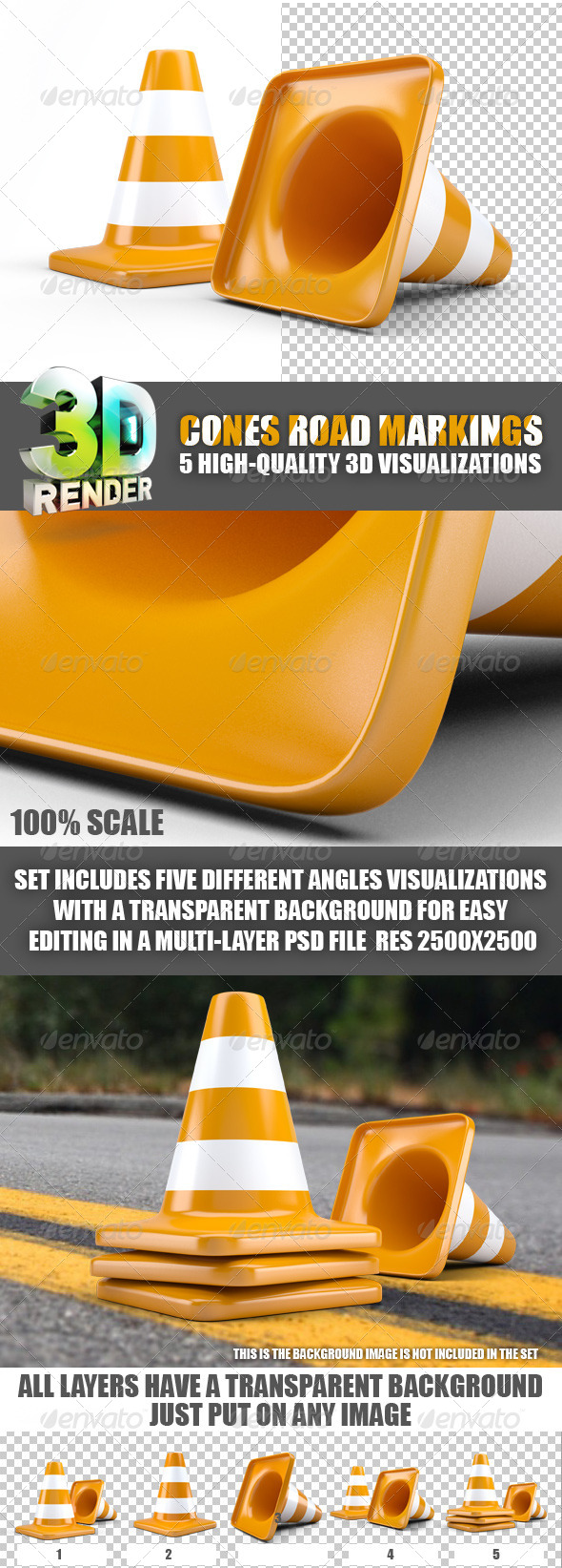 GraphicRiver ones road markings 5953809