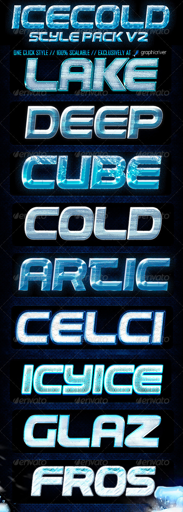 GraphicRiver Ice Cold Photoshop Layer Style V2 5954172
