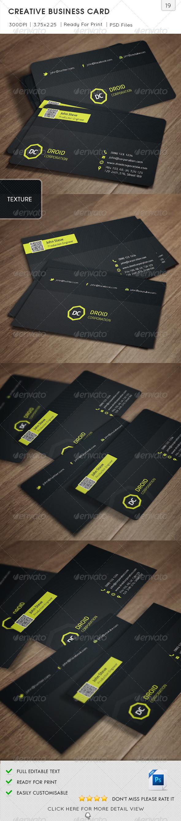 GraphicRiver Creative Business Card v19 5954181