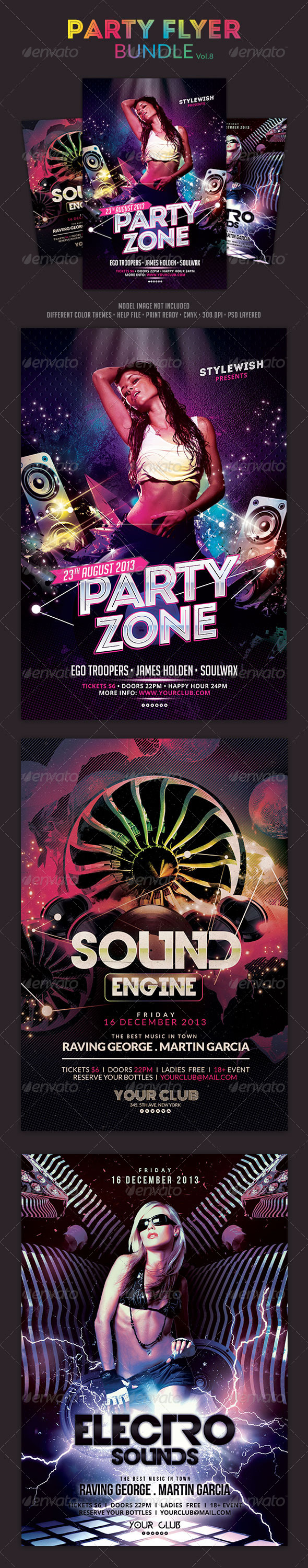 GraphicRiver Party Flyer Bundle Vol.8 5954363