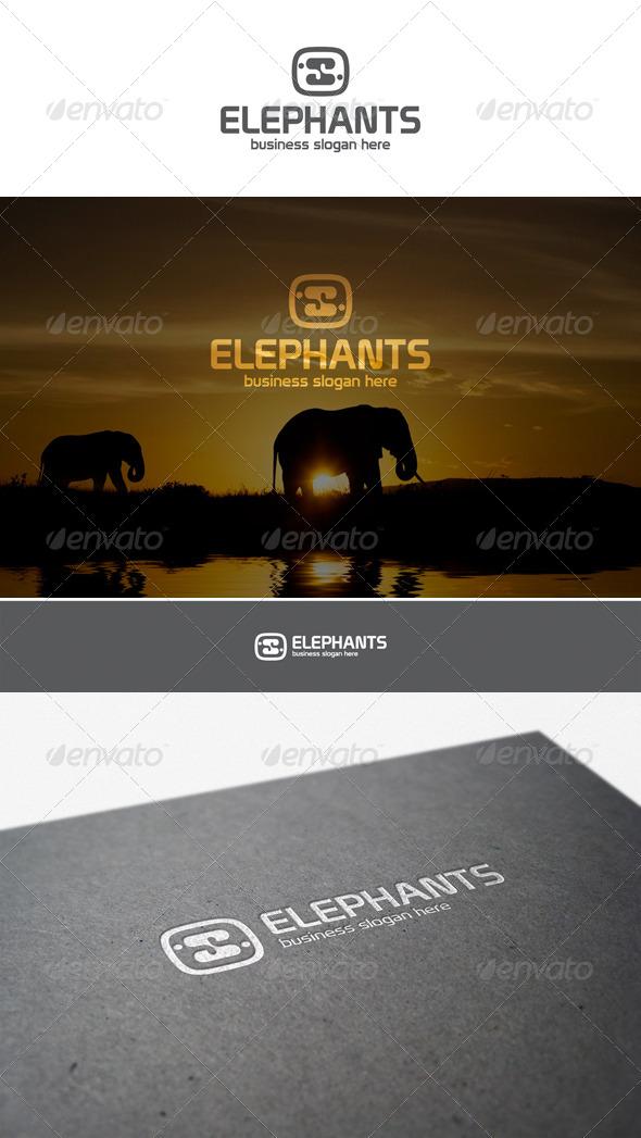 GraphicRiver Elephants Logo Creative Studio 5958040
