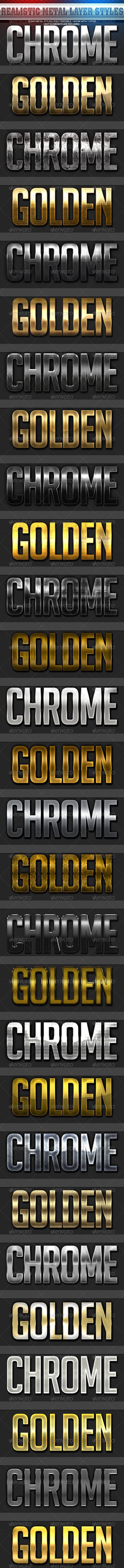 GraphicRiver Realistic Metalic Styles 5958444