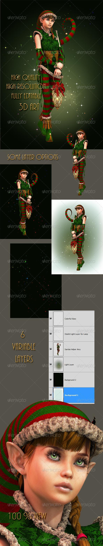 GraphicRiver Santas Little Helper Amy 5958716