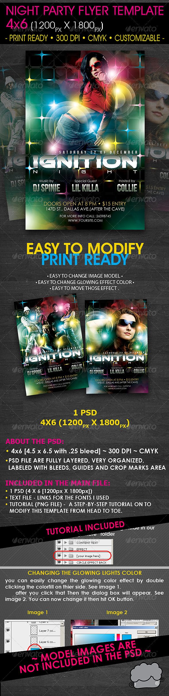 GraphicRiver Night Party Flyer Template 608347