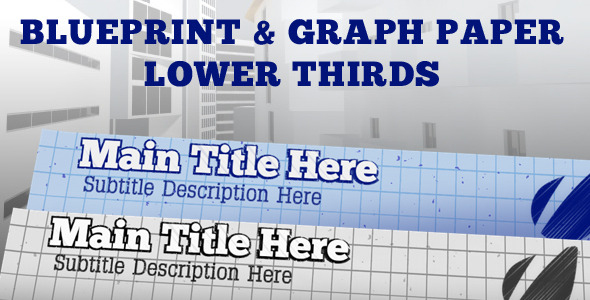After Effects Project - VideoHive Blueprint Lower Third Pack 622234