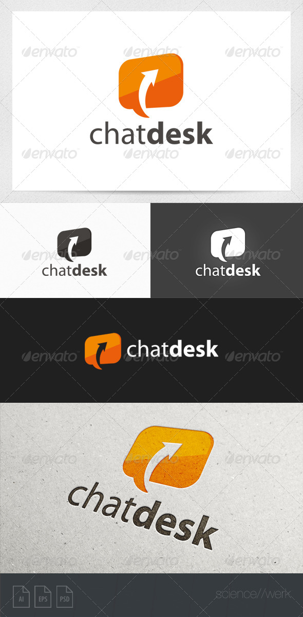GraphicRiver Chat Bubble Logo 5960412