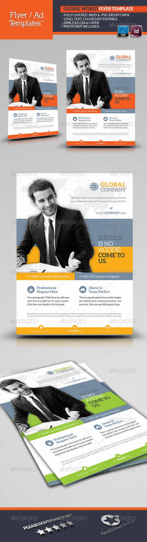 GraphicRiver Global World Flyer Template 5960417