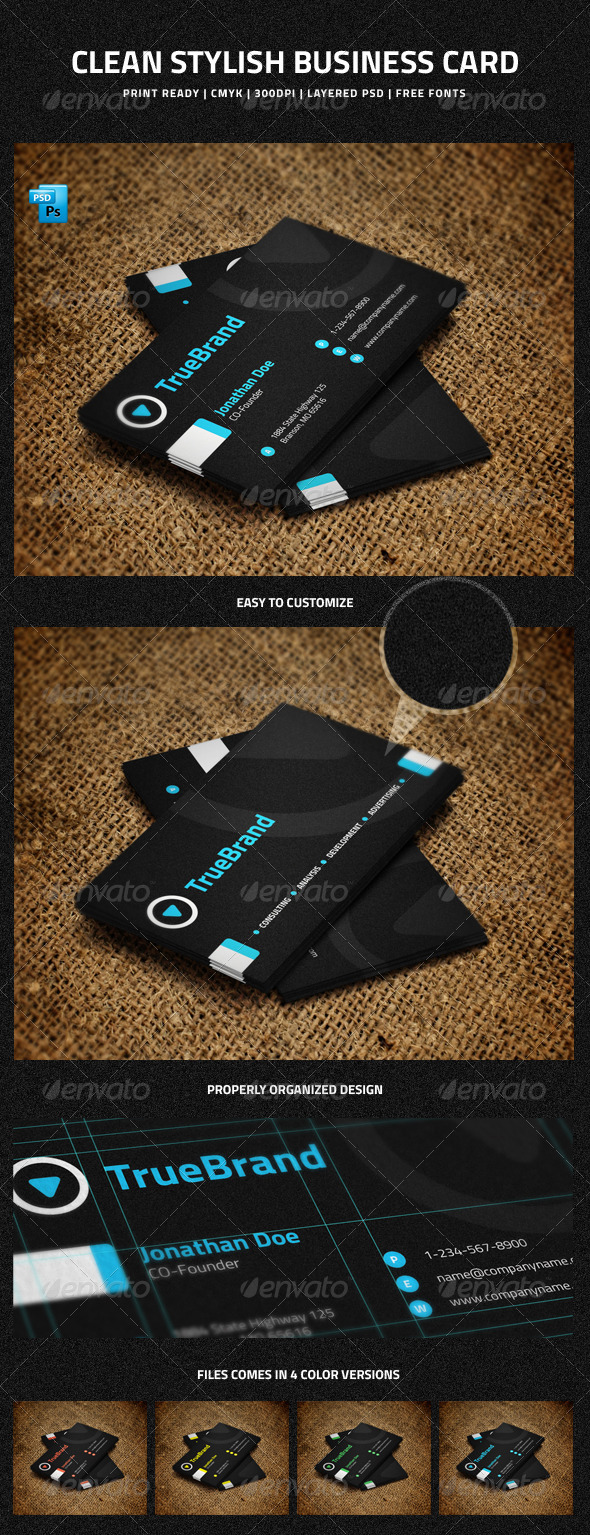 GraphicRiver Clean Stylish Business Card 5934077