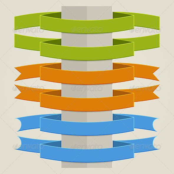 GraphicRiver Flat Ribbons 5961892