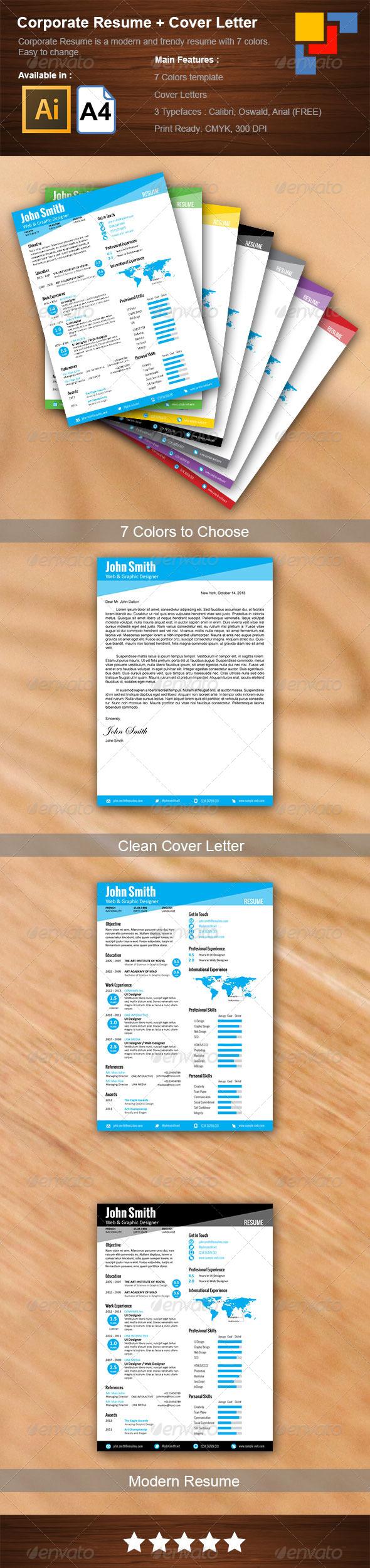 GraphicRiver Corporate Resume 5933449