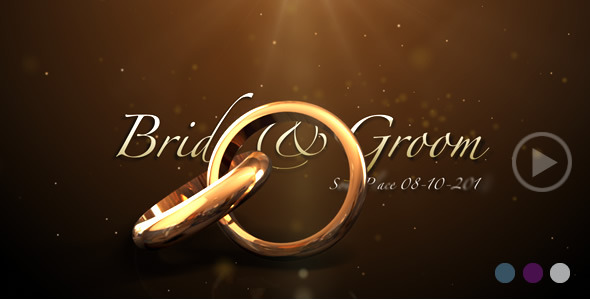 After Effects Project - VideoHive Weddings Rings Intro 622944
