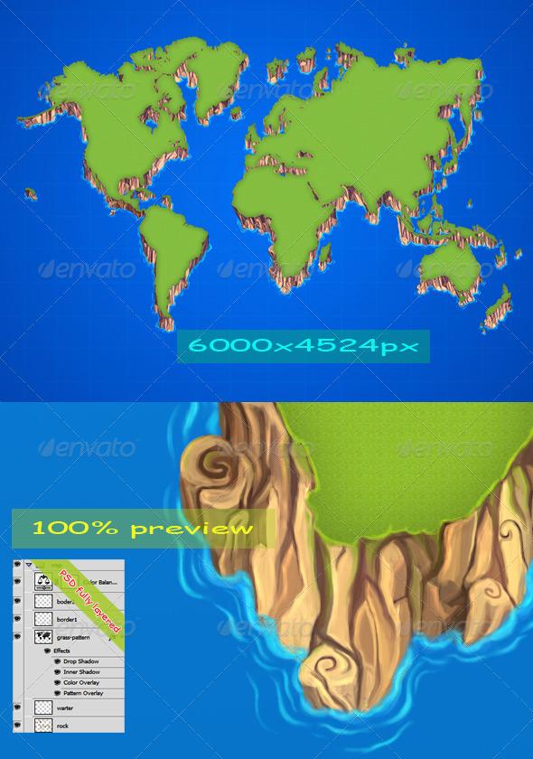 GraphicRiver 3D Map Cartoon 5964491