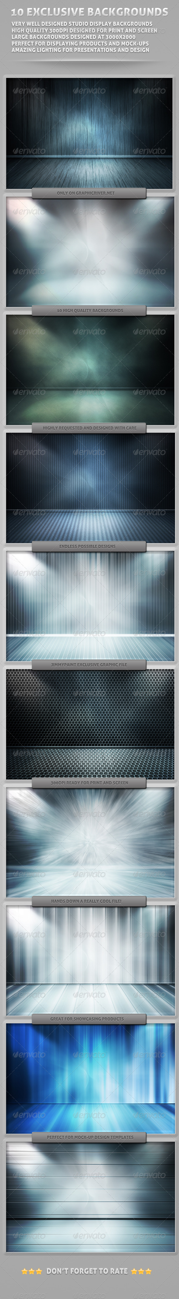 GraphicRiver Empty Room Mock Up Backgrounds 5965120
