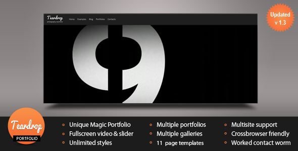 Teardrop - Flexible Photo & Portfolio WP Theme V.1.3