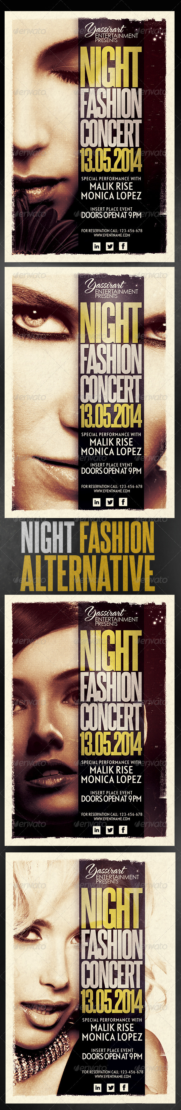 GraphicRiver Night Fashion Concert Flyer Template 5966556