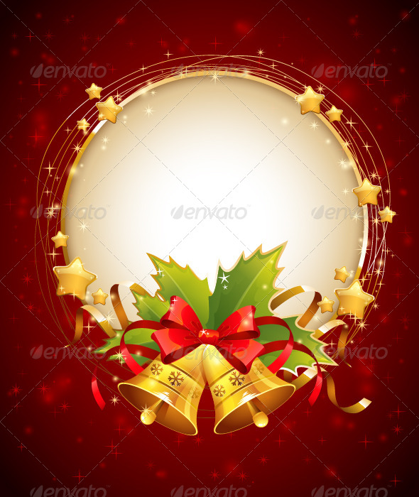 GraphicRiver Christmas Decorative Congratulation Card with Bell 5966775