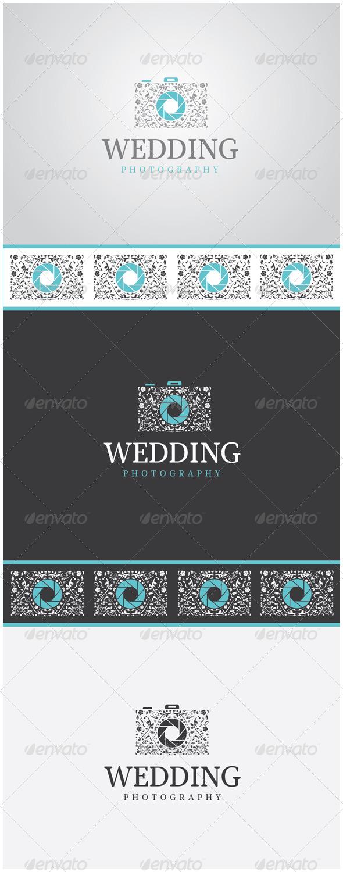 GraphicRiver Wedding Photography Camera Logo 5967431