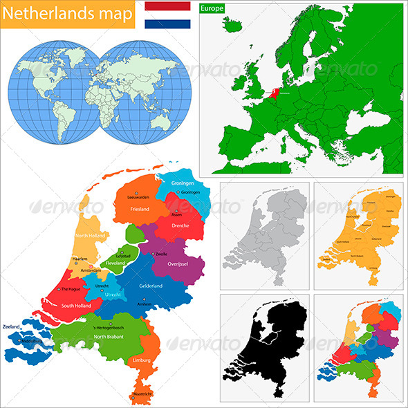 GraphicRiver Netherlands Map 5968539