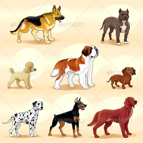 GraphicRiver Groups of Dog 5968907