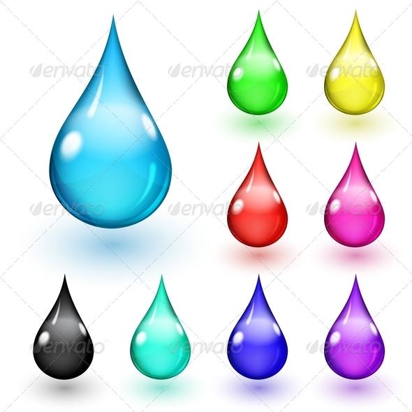 GraphicRiver Multicolored Drops 5969793
