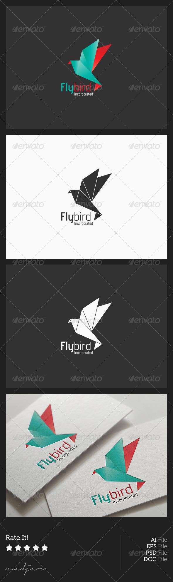 GraphicRiver Origami Bird Logo 5969973