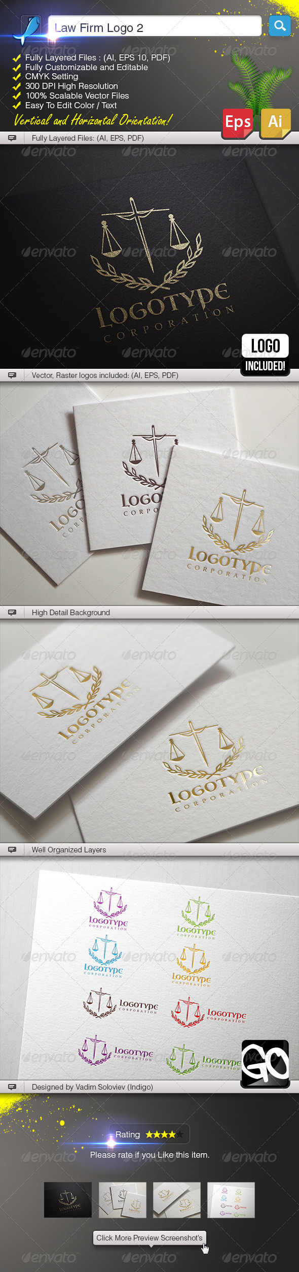 GraphicRiver Law Firm Logo 2 5970501