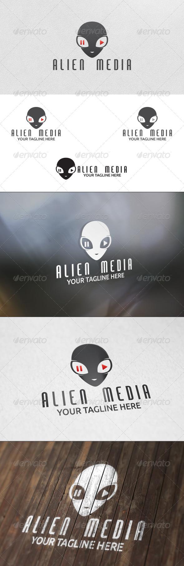 GraphicRiver Alien Media Logo Template 5971286