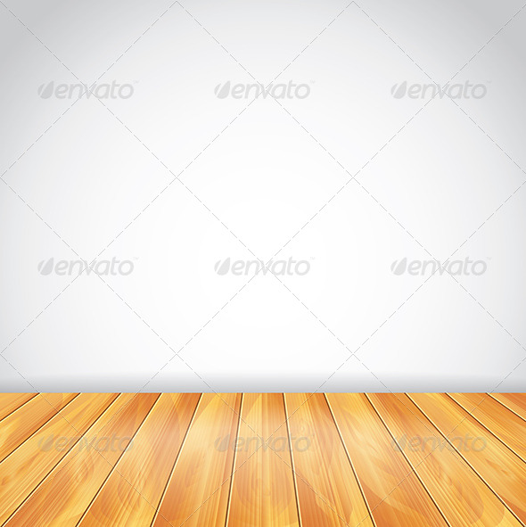 GraphicRiver White Wall and Wood Floor Vector Background 5971406