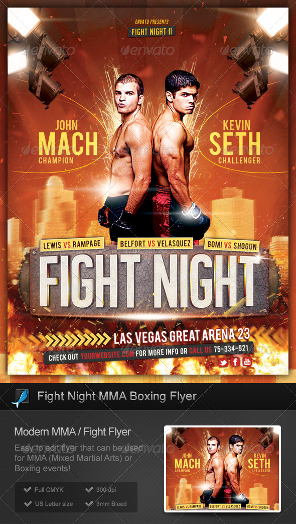 GraphicRiver Fight Night MMA Boxing Flyer 5927333