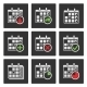 Calendar Icons. Events, Progress, Delivery. Vector - GraphicRiver Item for Sale