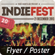 Indie Fest Flyer/Poster + FB Cover - GraphicRiver Item for Sale