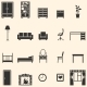 Vector Set of 20 Furniture  Icons  - GraphicRiver Item for Sale