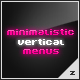 Minimalistic Vertical Menus - ActiveDen Item for Sale