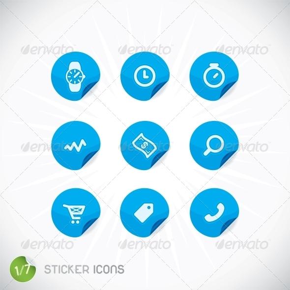 GraphicRiver Sticker Icons 6012377