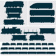 Silhouette Modern, Obsolete, Vintage - Train, Cars - GraphicRiver Item for Sale
