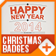 Christmas / New Year Badges - VideoHive Item for Sale