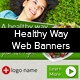 Healthy Way Web Banners - GraphicRiver Item for Sale
